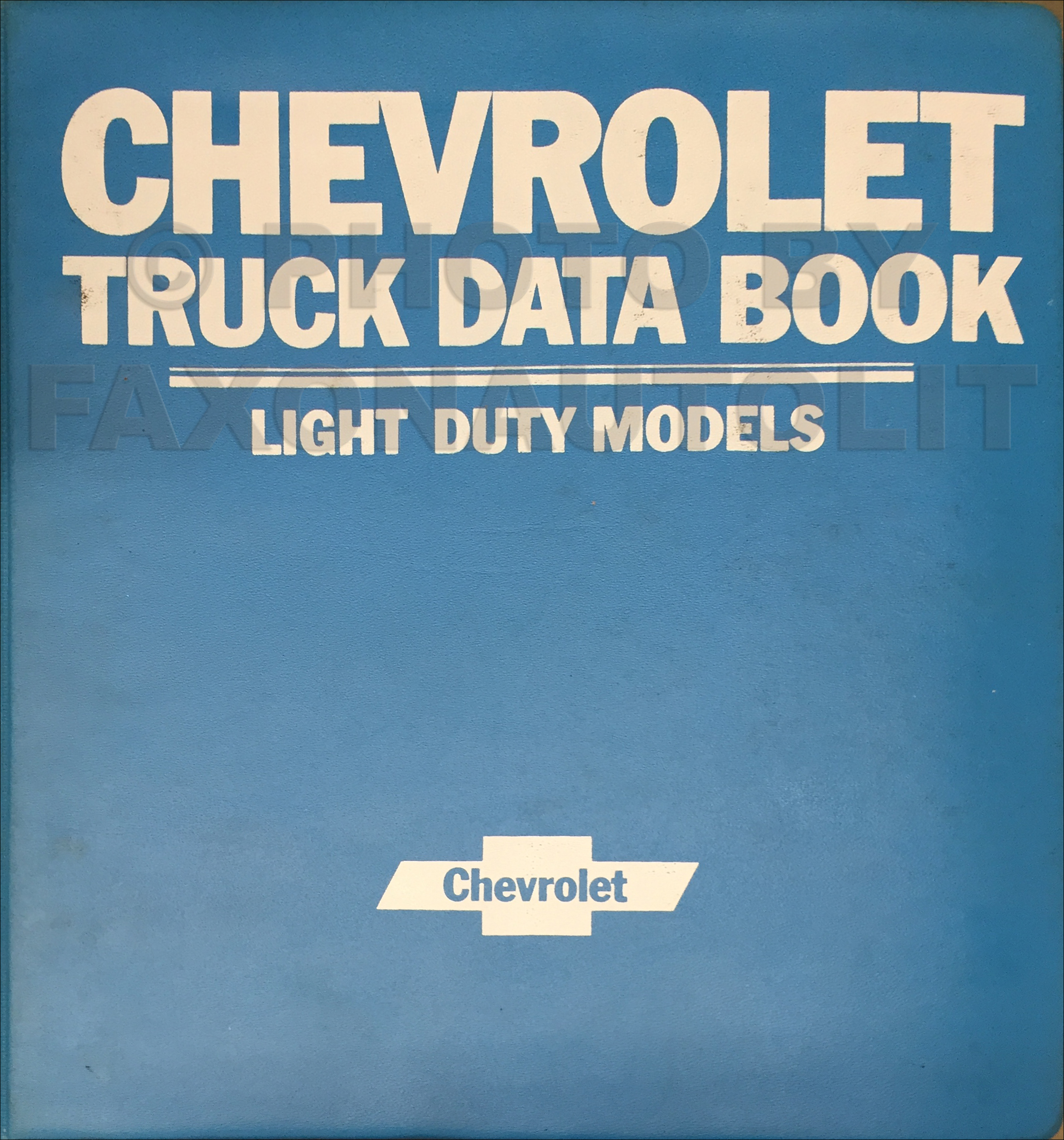 1979 Chevrolet Light Truck Data Book and Color and Upholstery Dealer Album Original