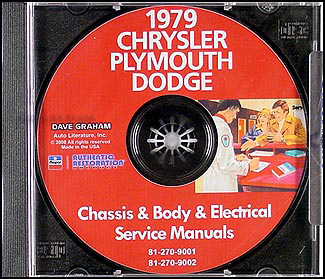 1979 Chrysler, Plymouth and Dodge CD-ROM Shop Manual