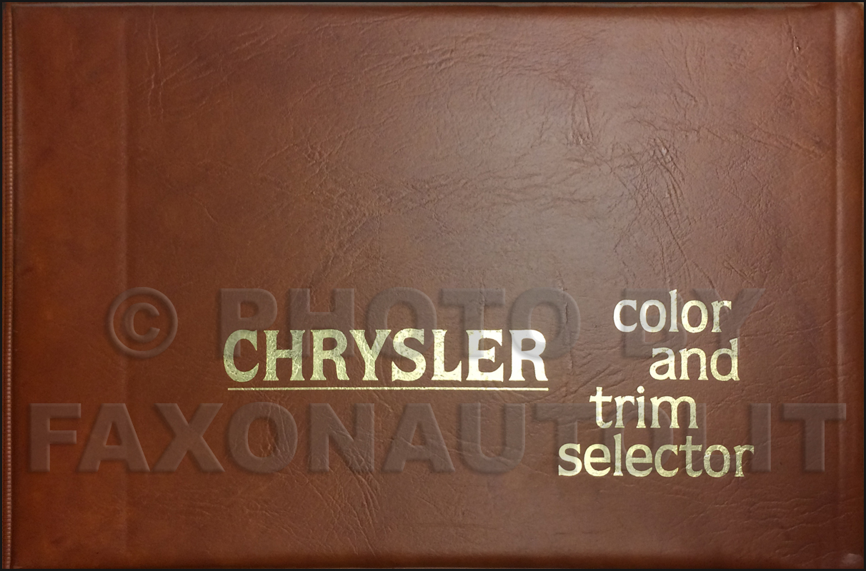 1979 Chrysler Color & Upholstery Album Original
