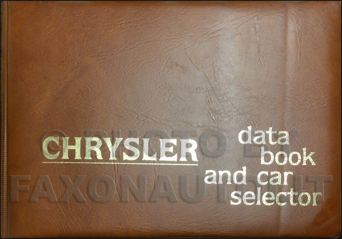 1979 Chrysler Data Book Original