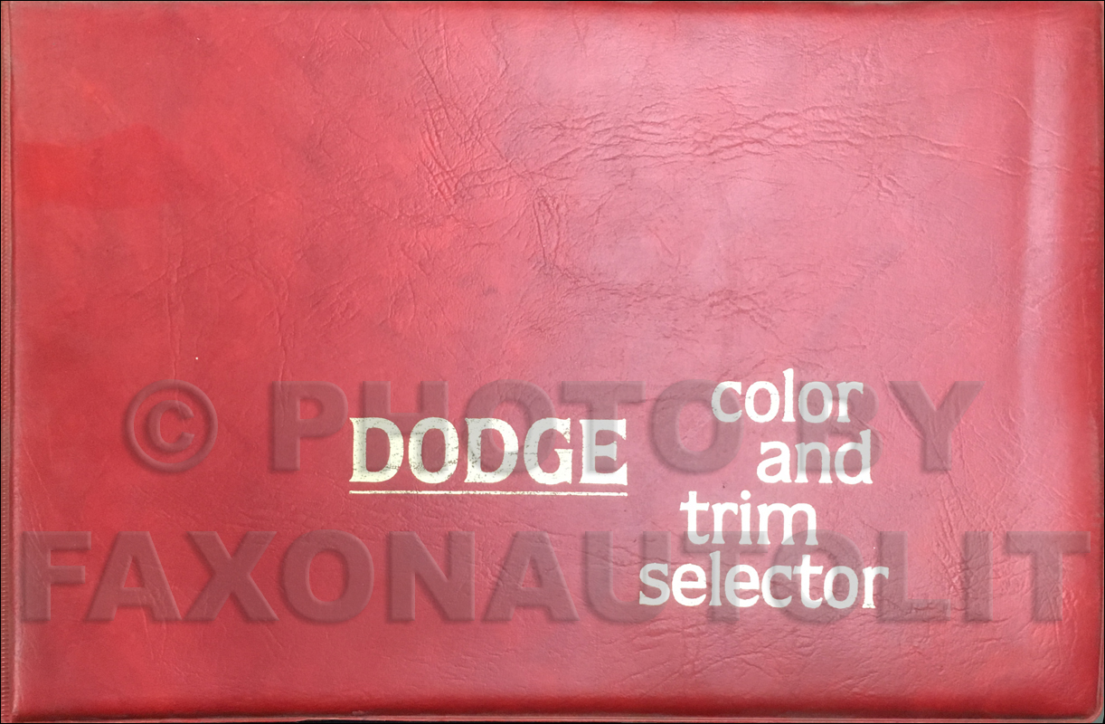 1979 Dodge Color & Upholstery Album Original