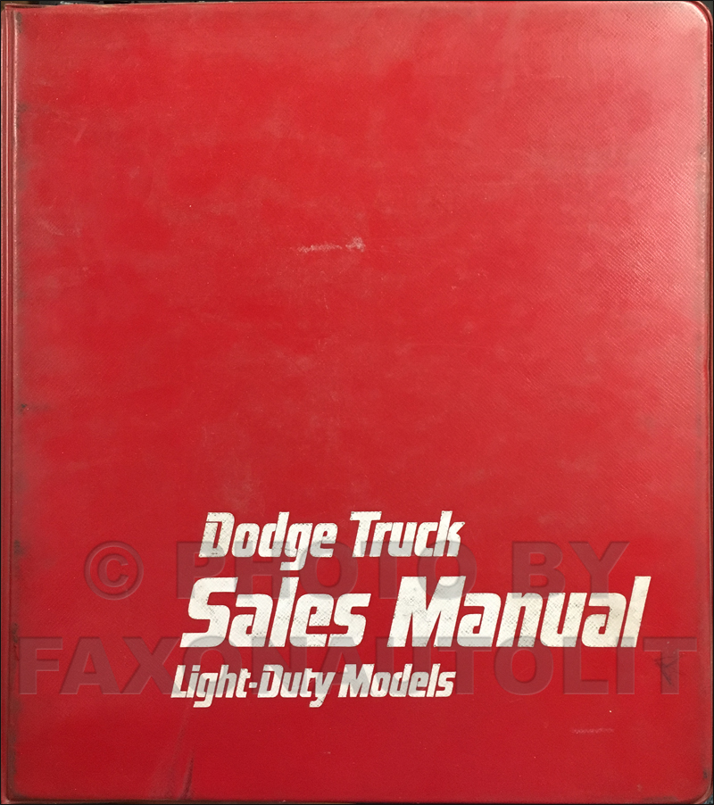1979 Dodge Truck Data Book and Color and Upholstery Album Original