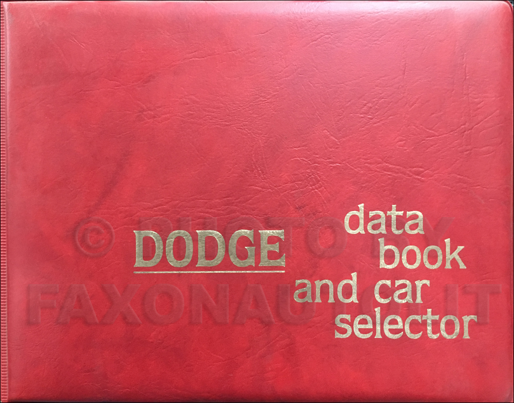 1979 Dodge Data Book Original