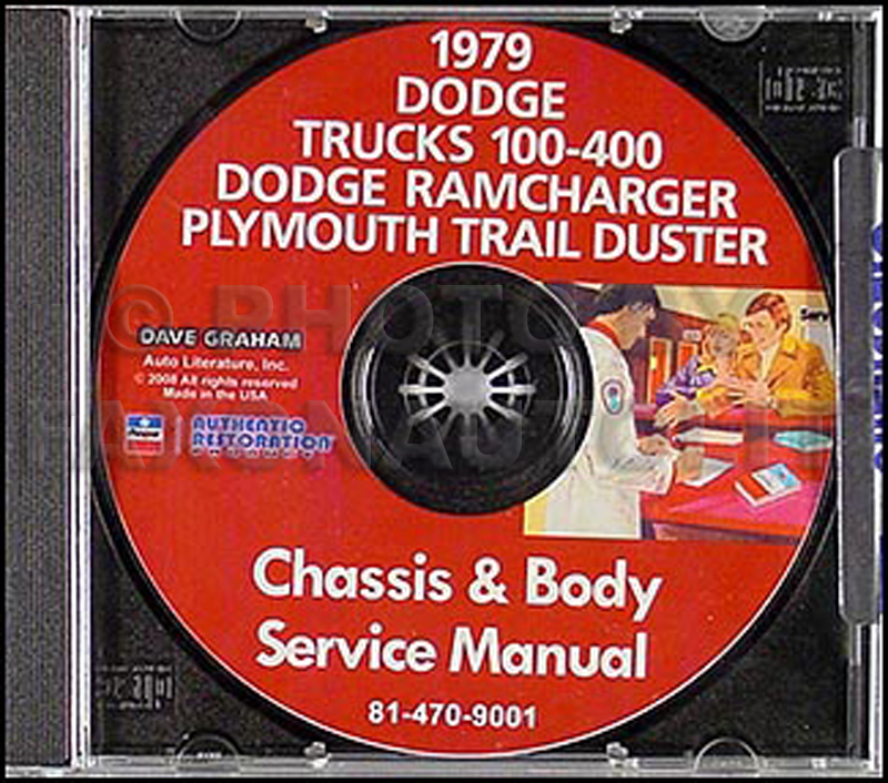 1979 CD Dodge 150-450 Pickup Truck Ramcharger Trail Duster Repair Shop Manual