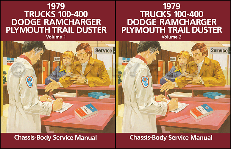1979 Dodge 100-400 Pickup Truck Ramcharger Trail Duster Repair Shop Manual Reprint