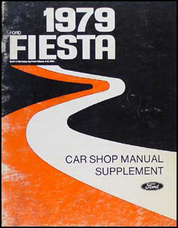 1979 Fiesta Repair Manual Original Supplement Engine/Fuel System