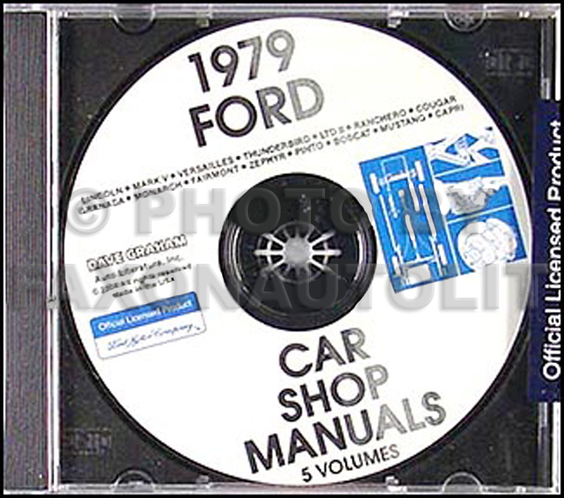 1979 Ford Lincoln Mercury CD-ROM Shop Manual for all cars 79