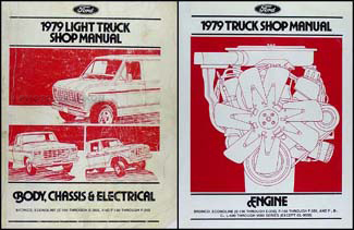 1979 Ford Repair Shop Manual Original F100-F350 Pickup Bronco Econoline Van
