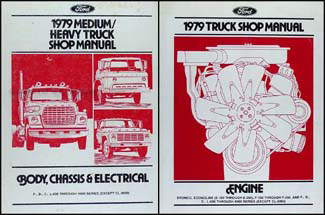1979 Ford Medium & Heavy Truck Repair Manual 2 Volume Set Original