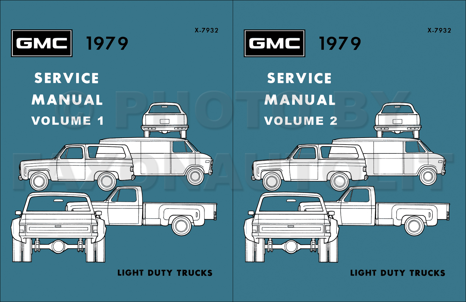 1979 GMC 1500-3500 Truck Repair Shop Manual Reprint Set Pickup, Jimmy, Suburban, Van, FC