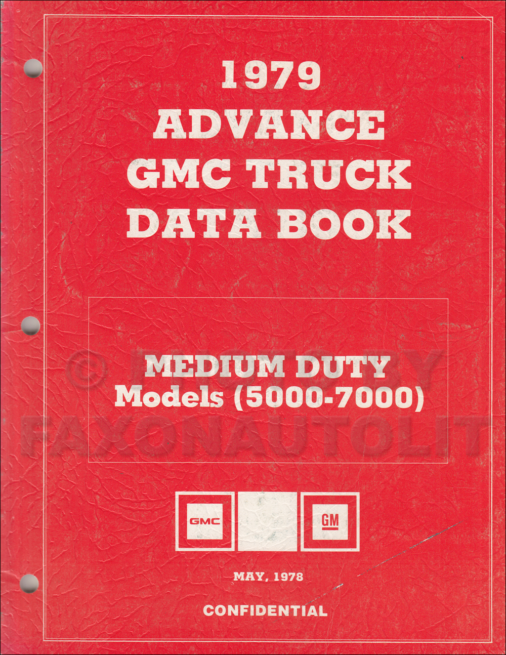 1979 GMC Medium Duty Advance Data Book Original