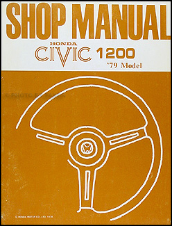 1979 Honda Civic 1200 Repair Manual Original