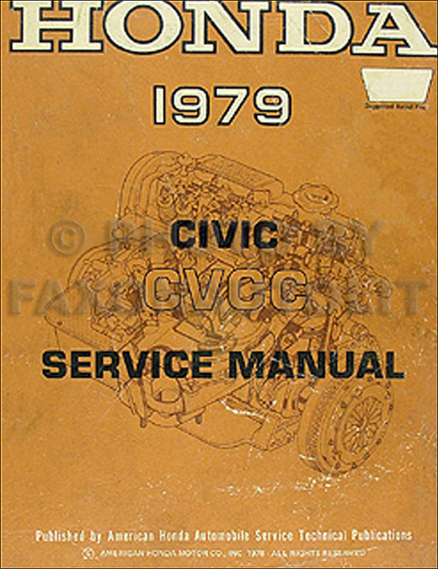 1979 Honda Civic CVCC Repair Manual Original
