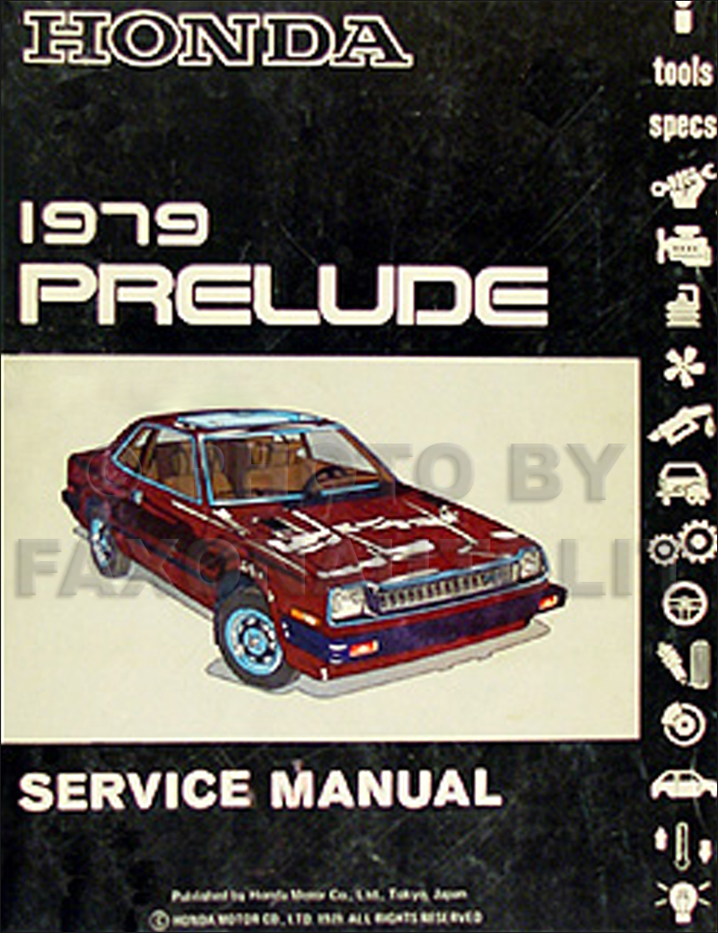1979 Honda Prelude Repair Manual Original