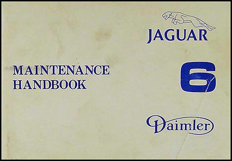 1979 ½ Jaguar XJ6 Series 3 Maintenance Handbook Original