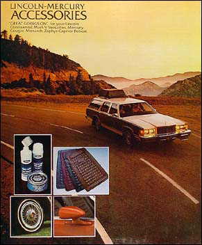 1979 Lincoln Mark V Continental Mercury Accessory Brochure Original