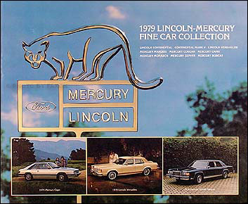 1979 Lincoln Continental, Mark V and Mercury Sales Catalog Original