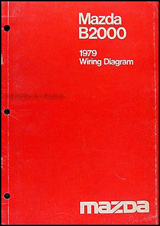 1979 Mazda B2000 Original Wiring Diagram