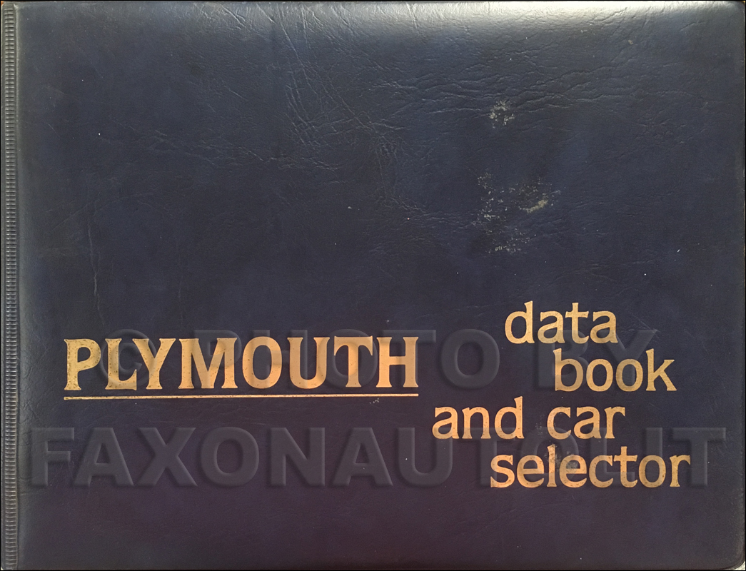 1979 Plymouth Data Book Original
