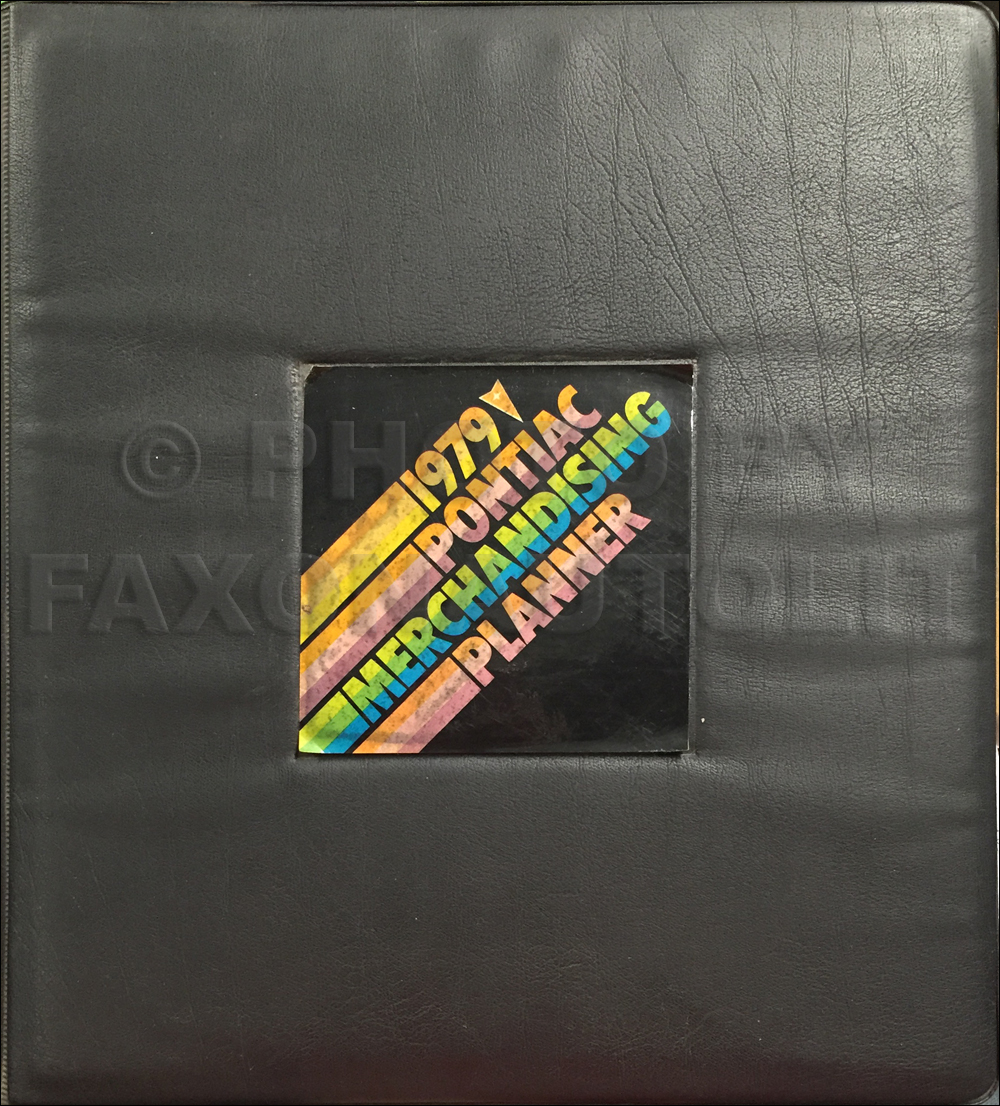 1979 Pontiac Merchandising Planner Dealer Album Original