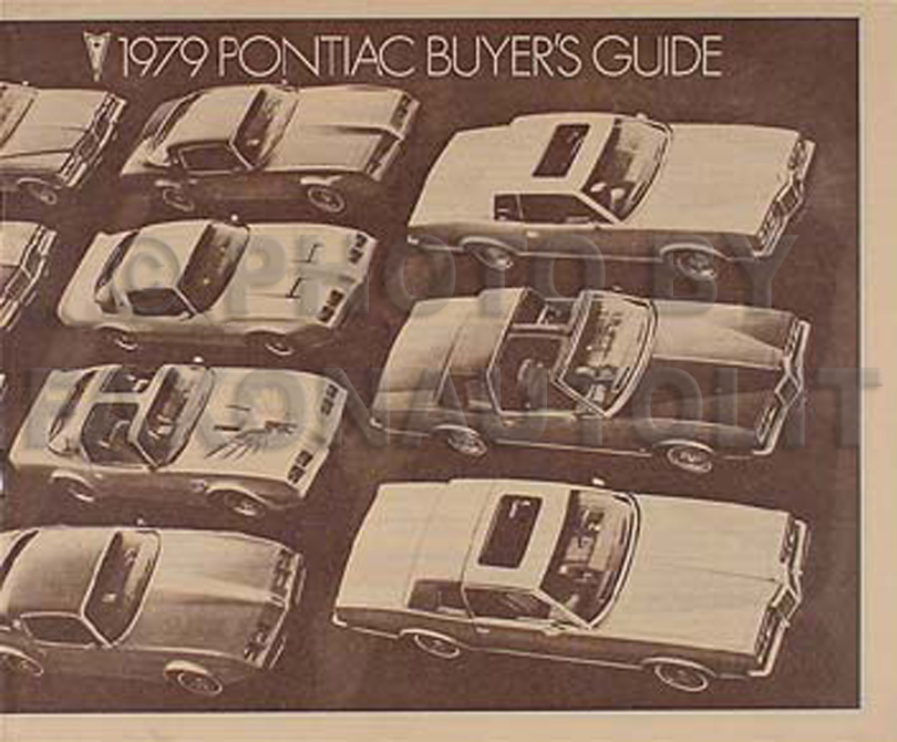 1979 Pontiac, Firebird, & Trans Am Original Options Brochure 79