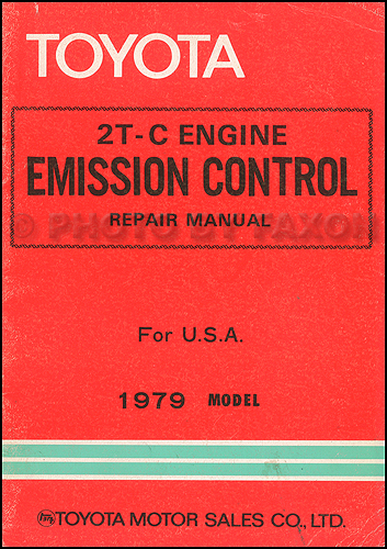 1979 Toyota Corolla Emission Control Repair Shop Manual Original
