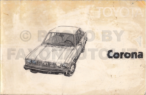 1979 Toyota Corona Owner's Manual Original RT134