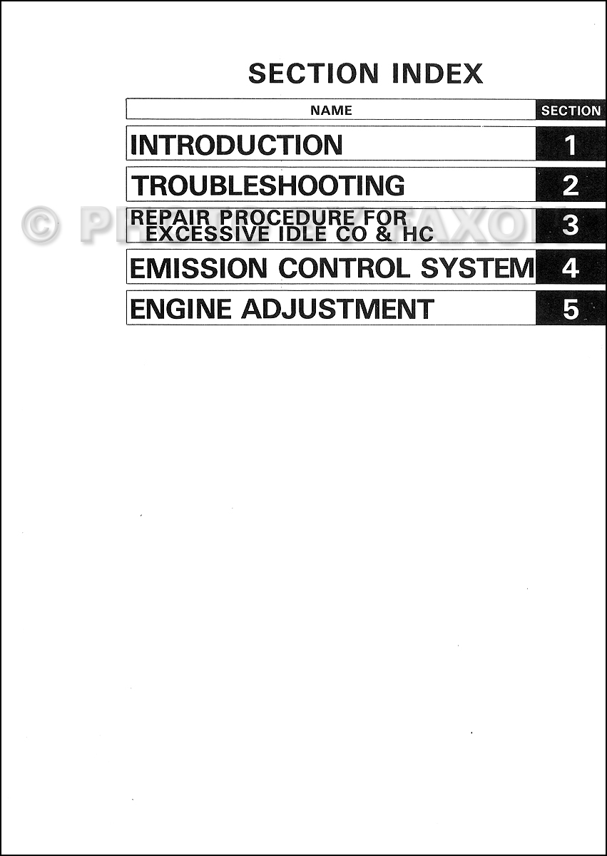 Toyota Corolla Repair Manual: Adjustment