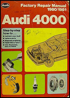 1980-1981 Audi 4000 Repair Manual Original