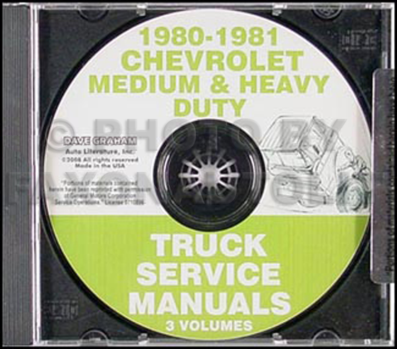 1980-1981 Chevrolet Medium and Heavy Truck Service Manual CD