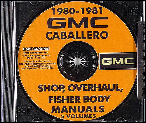 1980-1981 GMC Caballero Shop Manuals on CD-ROM