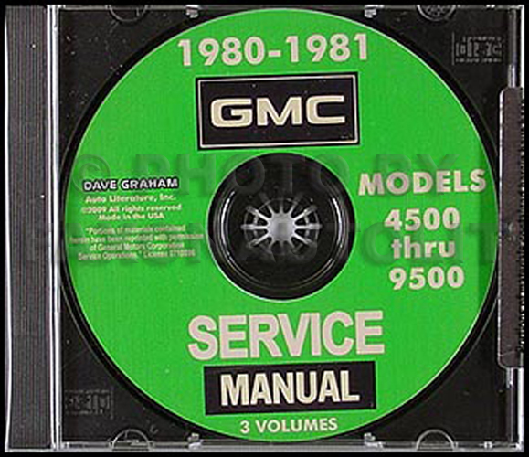 1980-1981 GMC Truck 4500-9500 Shop Manuals on CD-ROM