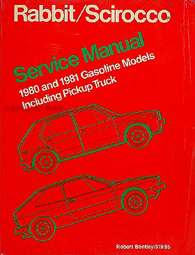 1980-1981 VW Shop Manual Original Rabbit, Scirocco, & Pickup Truck 81