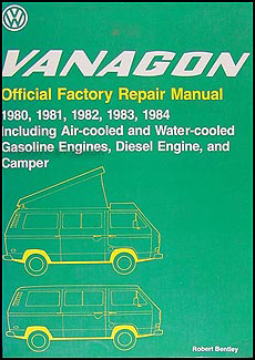 1980-1984 VW Vanagon Bentley Repair Shop Manual