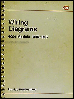 1980-1985 4000 and Audi Coupe Wiring Diagram Manual Original