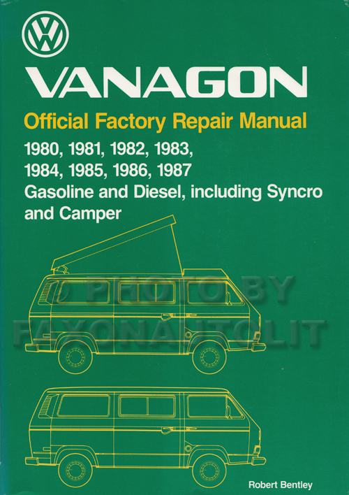 1980-1987 VW Vanagon Repair Shop Manual