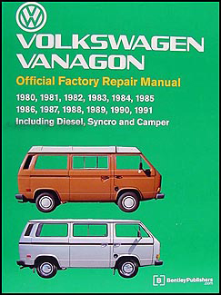 1980-1991 VW Vanagon Bentley Repair Shop Manual