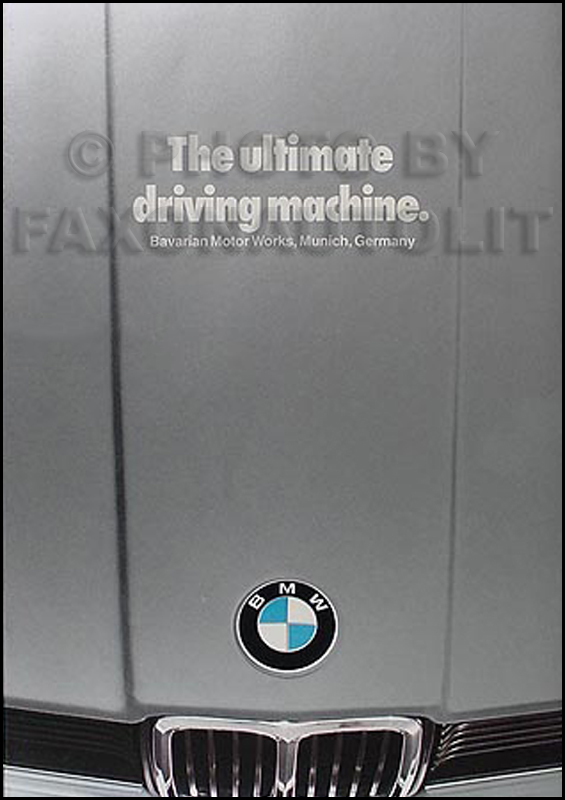 1980 BMW Sales Catalog Original 733i 320i 528i 633CSi