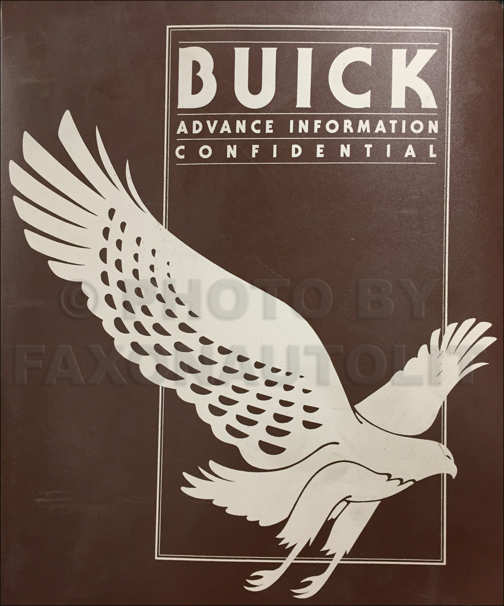 1980 Buick Advance Information Dealer Album Original