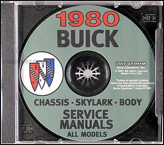 1980 Buick Shop Manual CD-ROM
