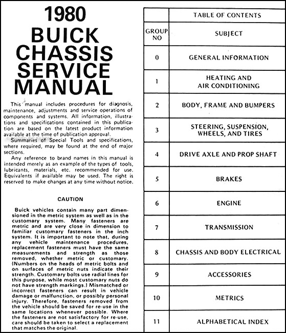 1927 buick wiring diagram 1980    buick    repair shop manual riviera skyhawk century  1980    buick    repair shop manual riviera skyhawk century