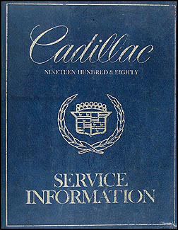1980 Cadillac Shop Manual Original