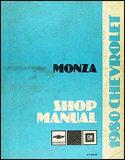 1980 Chevy Monza Repair Manual Original