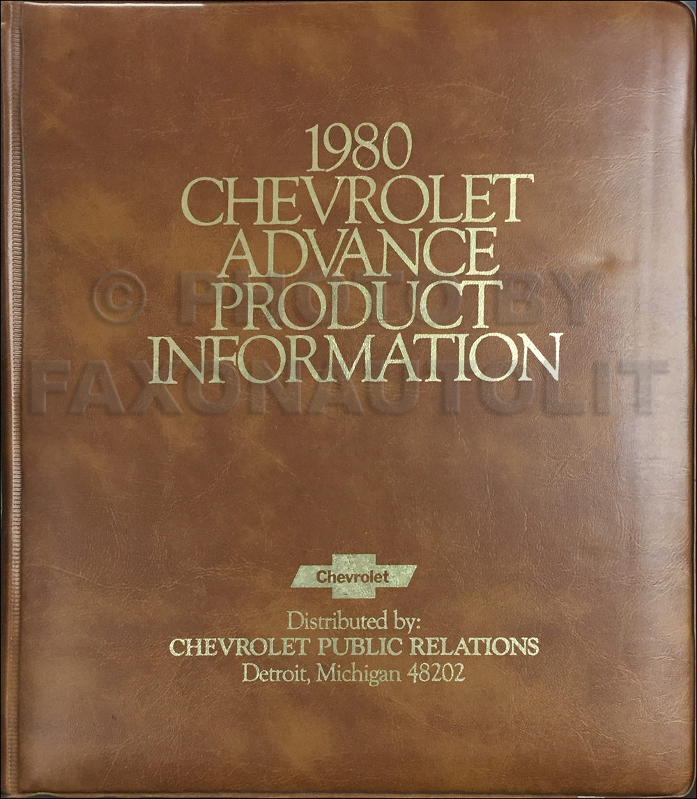 1980 Chevrolet Advance Technical Press Kit Original