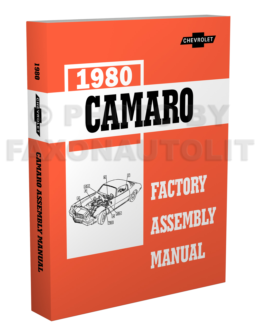 1980 Camaro Bound Factory Assembly Manual Reprint