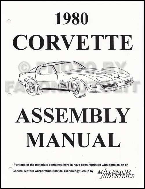 1980 Corvette Factory Assembly Manual Reprint