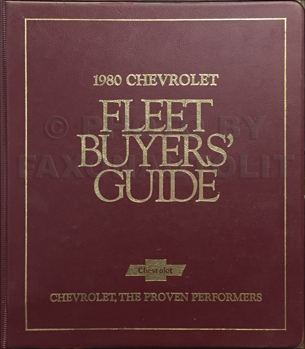 1980 Chevrolet Fleet Buyer's Guide Dealer Album Original