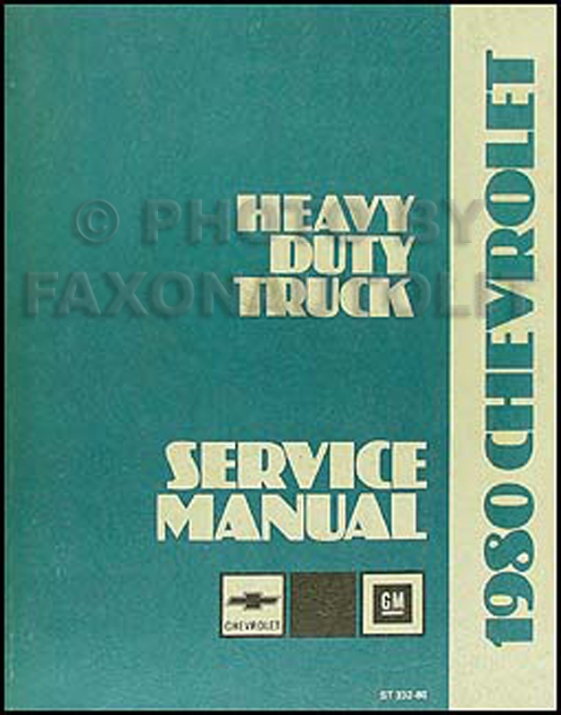1980 Chevrolet 80-90 Heavy Truck Service Manual Original Titan Bruin Bison