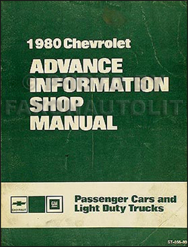 1980 Chevrolet Advance Information Preliminary Repair Shop Manual