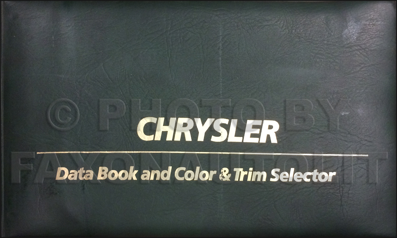 1980 Chrysler Color & Upholstery Album and Data Book Original